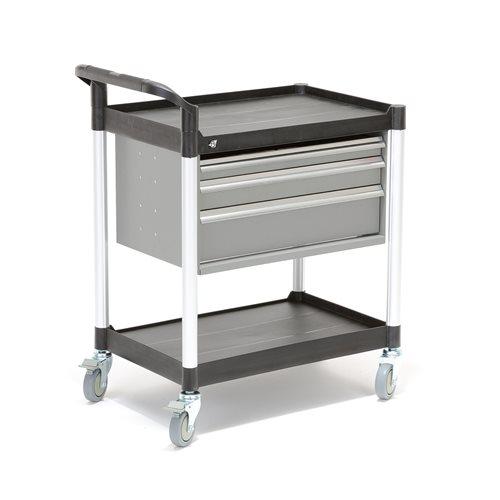 Wózek narzędziowy z półkami i 3 szufladami