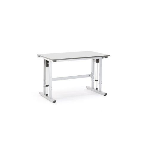 Sähkösäädettävä työpöytä, 300 kg, 1200x800 mm, harmaa