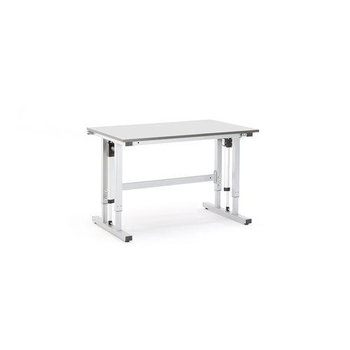 #en (sv)Eldrivet arbetsbord 1200x800mm grå, max 400kg