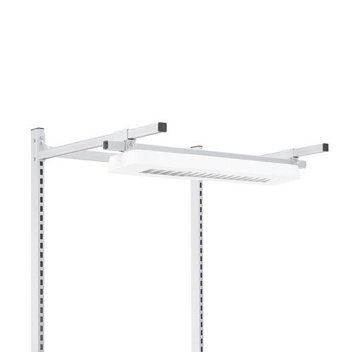 Lysrörsarmatur till arbetsbord 2x14W för konsol