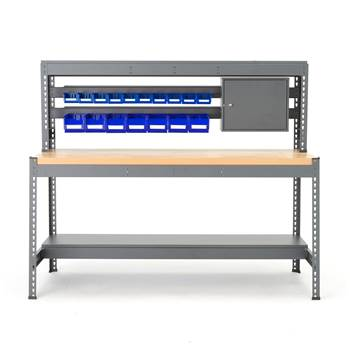 Combo workbench with hanging rail and lighting