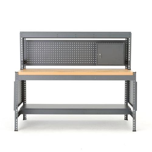 Combo workbench with tool panel and lighting