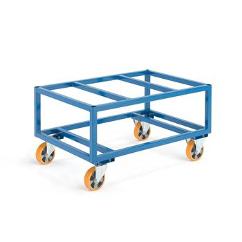Pallet trolley, 1000 kg load, Ø 160 mm PU wheels, 1200x800x625 mm