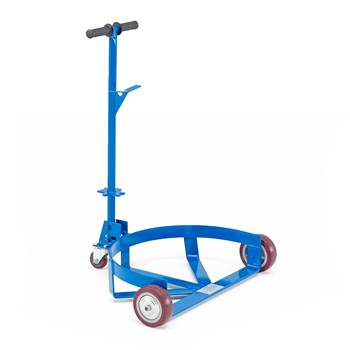 Low profile drum trolley