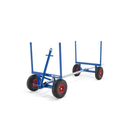 Blue long material trolley: 3500 kg