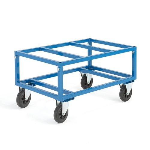 Kuormalavavaunu, säädettävä, 500 kg, 1200x800 mm