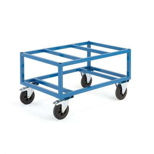 Kuormalavavaunu, 500 kg, 1200x800x655 mm, jarrulla
