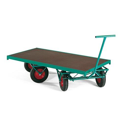 Wózek transportowy z 4 kołami skrętnymi Wymiar platformy: 1500x750mm