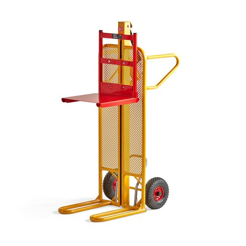 Trolley with manual lift table