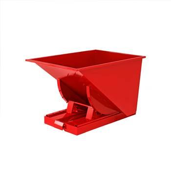 Czerwony kontener - wywrotka o pojemności 150 l