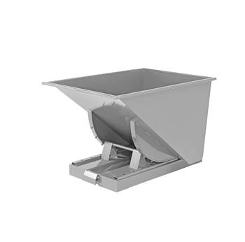 Auto self tipping skip, 815x760x580 mm, 150 L, grey