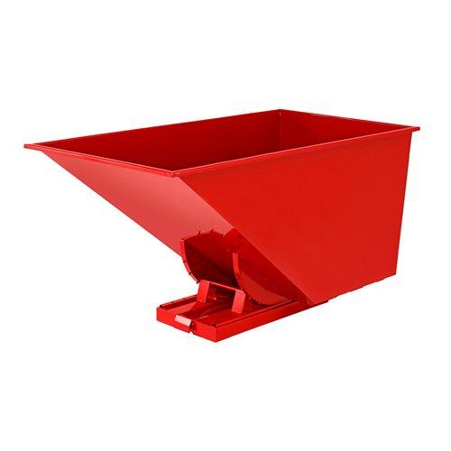 Czerwony kontener - wywrotka o pojemności 1600 l