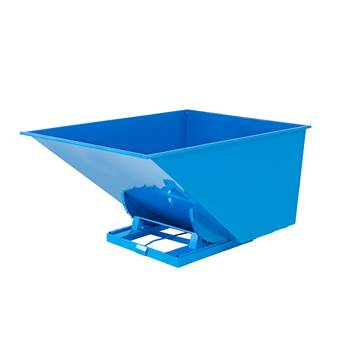 Auto self tipping skip, 2073x1316x1248 mm, 2000 L, blue