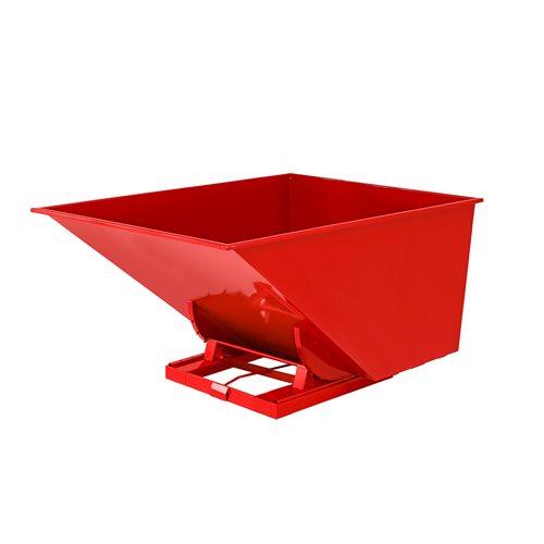 Czerwony kontener - wywrotka o pojemności 2000 l