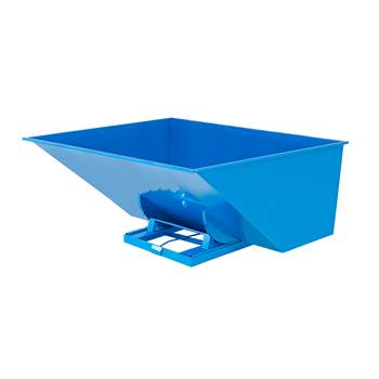 Auto self tipping skip, 2073x1866x1248 mm, 3000 L, blue