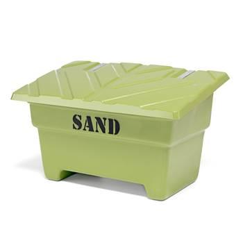 Grit bin, 870x1420x920 mm, 550 L, green