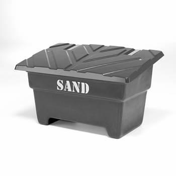Czarny pojemnik na sól lub piach o poj, 550 l, 1420x920x870mm