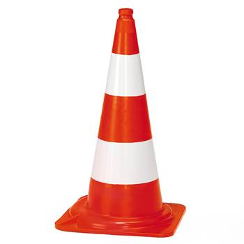 Traffic cone, H 750 mm, reflective strips