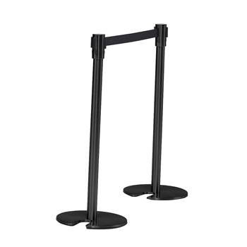 Belt barrier system, L 2000 mm, black post, black