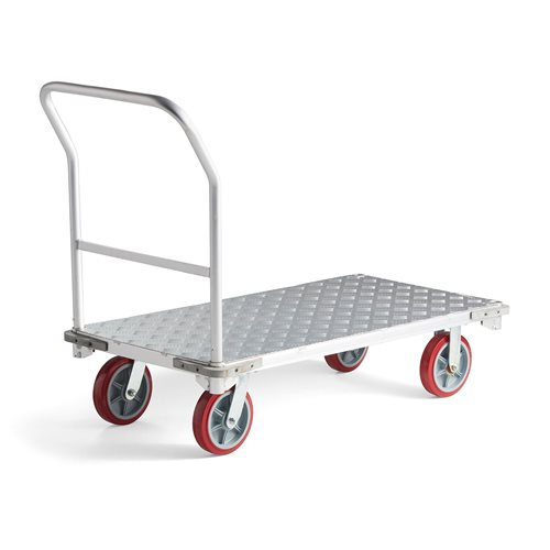 Aluminiowy wózek platformowy.
