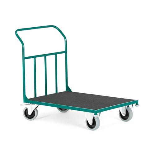 Wózek platformowy z warstwą filcu