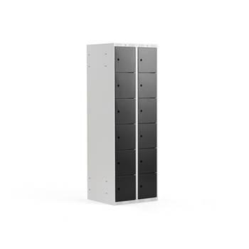 6 door locker, 2 modules, black