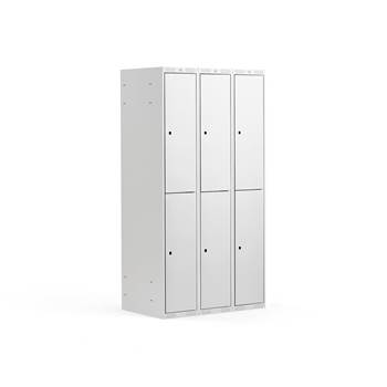 2 door locker, 3 modules, 1740x900x550 mm, grey