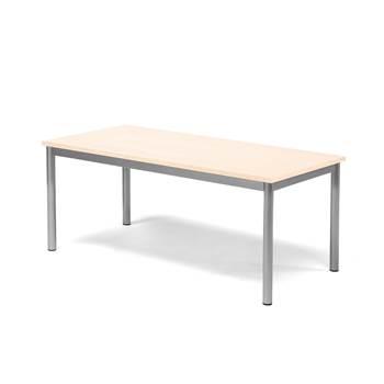 Pax table, 1200x600x500 mm, beech laminate, alu grey