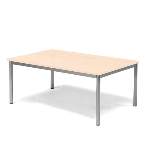 Pöytä Pax, HPL, Korkeus 500 mm, Tason mitat:1200x800 mm, Pyö