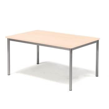 Pax table, 1200x800x600 mm, beech laminate, alu grey