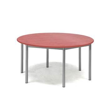 Bord Pax, Ø900x600 mm, lyddempende linoleum, rød