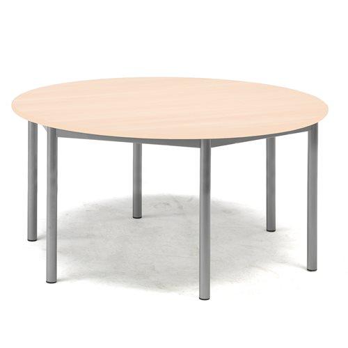 Pöytä Pax, HPL, Korkeus 600 mm, Tason mitat:Ø1200 mm, Pyökki