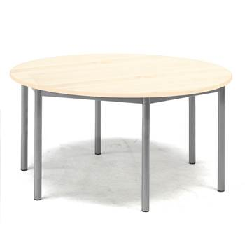 Pax table, Ø1200x600 mm, birch laminate, alu grey