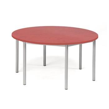 Bord Pax, Ø1200x600 mm, ljuddämpande linoleum, röd
