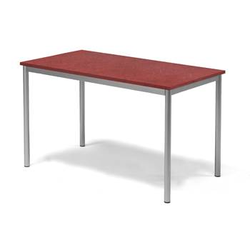 Bord Pax, 1200x700x720 mm, lyddempende linoleum, rød
