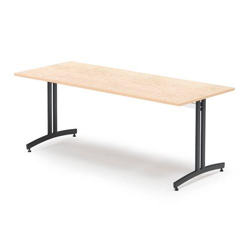#sv Lunchrumsbord, 1800x800 mm, beige linoleum, svart