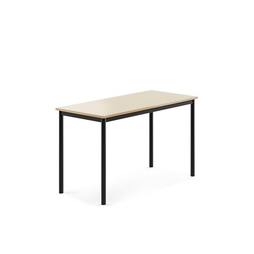 Pöytä Borås, HPL, k 720 mm, p 1200 mm, l 600 mm, Musta, Koiv