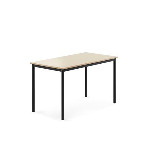 Pöytä Borås, HPL, k 720 mm, p 1200 mm, l 700 mm, Musta, Koiv