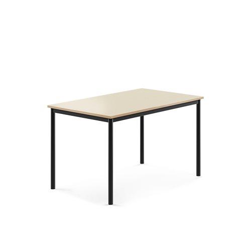 Pöytä Borås, HPL, k 720 mm, p 1200 mm, l 800 mm, Musta, Pyök