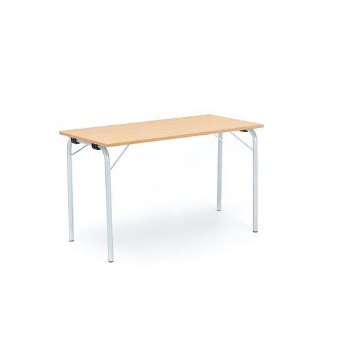 Taittopöytä Nicke, 1200x500x720 mm, galvanoitu, pyökki