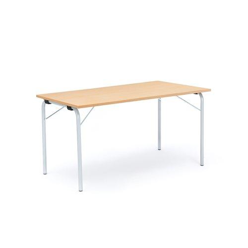 Taittopöytä Nikke, 1400x700x720 mm, galvanoitu, pyökkilaminaatti