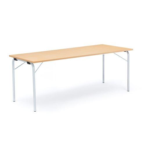 Taittopöytä Nikke, 1800x700x720 mm, galvanoitu, pyökki
