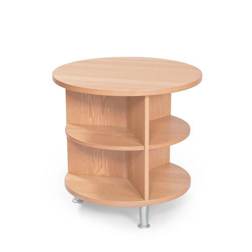 #e- Sofa Table Paris oak. Ø600xH580 mm