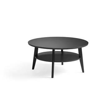 Sofabord, Ø1000 mm, svart