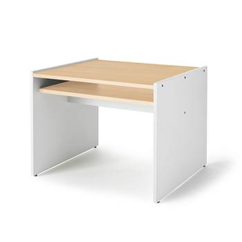 Mille children's games table, white, birch, 740x620x530 mm