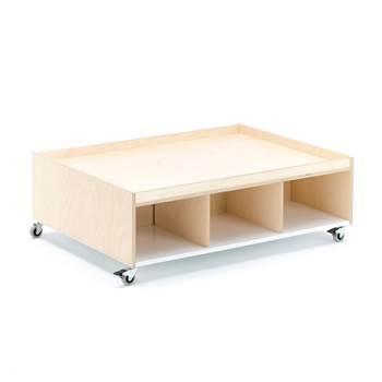 Lekebord Emma, 1000x750x330 mm, bjørk, hvit