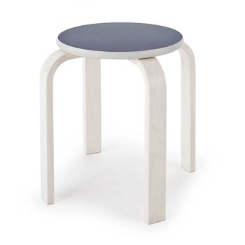 Björk wooden stool, H 350 mm, grey