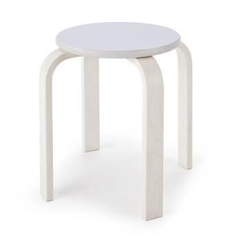 #e- Stool Björkavi white.Seat height 350xØ330 mm.