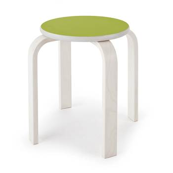 Björk wooden stool, H 350 mm, green