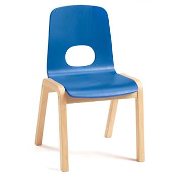 Scala children's chair, H 340 mm, beech, blue